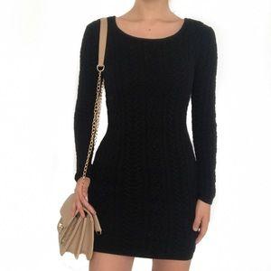 Willow & Clay black knit body-con dress